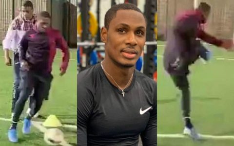 Odion Ighalo Trains With Teammmates