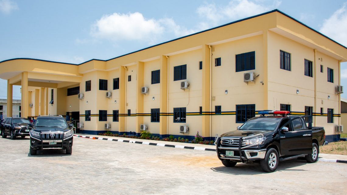 The newly commissioned Area 'J' Police Command, Elemoro, Ibeju-Lekki, on Thursday, April 23, 2020.