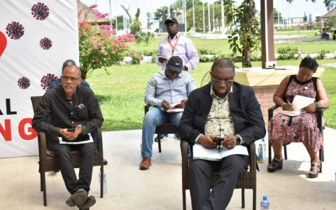 From Left: Professor Akin Abayomi, HC- Ministry of Health; Mr. Sam Egube, HC- Ministry of Economic Planning & Budget; Princess Aderemi Adebowale, SA- Office of Civic Engagement; Prince Anofiu Elegushi, HC- Ministry of Home Affairs. Standing: Mr. Olusina Thorpe - Permanent Secretary, Ministry of Information & Strategy