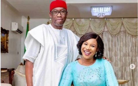 Governor Okowa And Wife