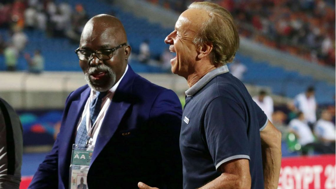 Amaju Pinnick and Gernot Rohr