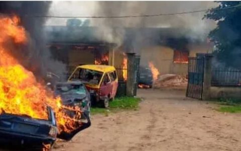 Police Station Burnt In Anambra State