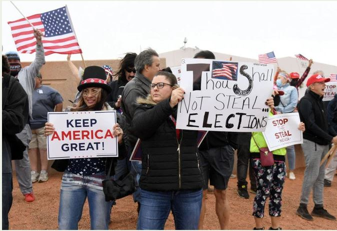 Trump and His Supporters Reject Election Results