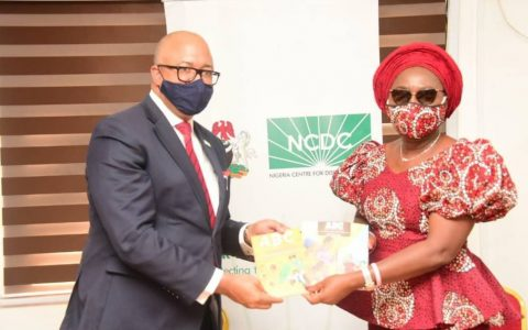 Dr. Chikwe Ihekweazu, Director General of NCDC Receives Mrs. Akeredolu