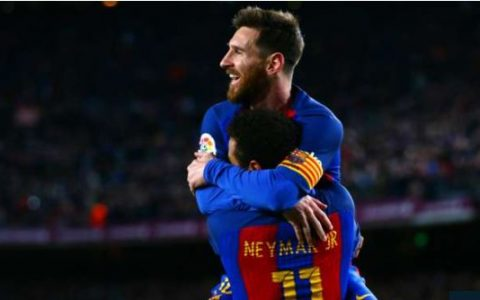 PSG's Neymar and Barcelona's Messi