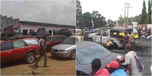 Youths and Customs Clash
