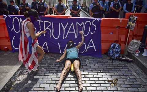 Gender Violence Protests In Puerto Rico