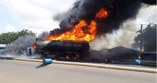Tanker Gutted By Fire In Lagos