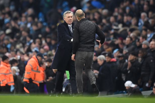 Ancelotti Makes Comments after Man City Beat Everton