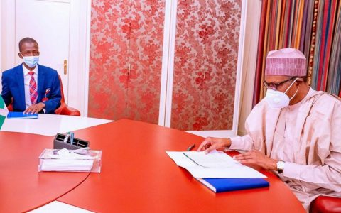 Buhari Meets New EFCC Boss, Abdulrasheed Bawa