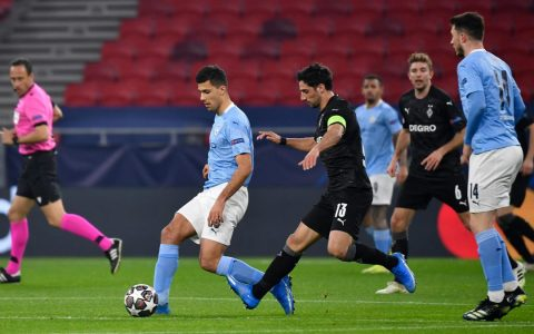 Man City Beat Borussia M'glabach 2-0 in Champions League