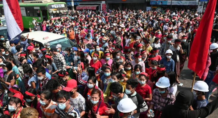 Myanmar Coup Protest