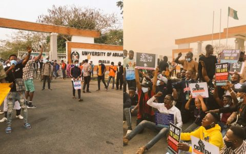 UNIABUJA STUDENTS PROTEST