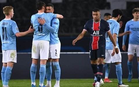 Man city Beat PSG 2-1 In CL