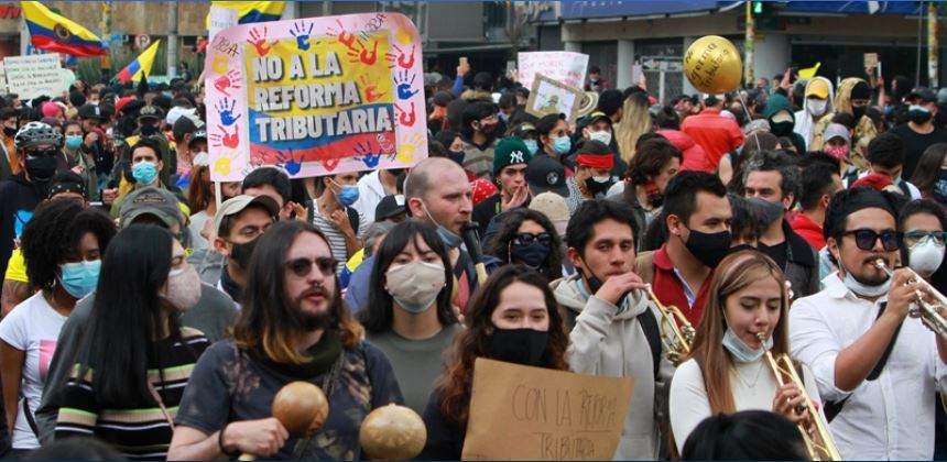 Protesters Storm Streets To Protest Tax Reform