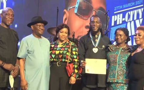Wike Honours Burna Boy