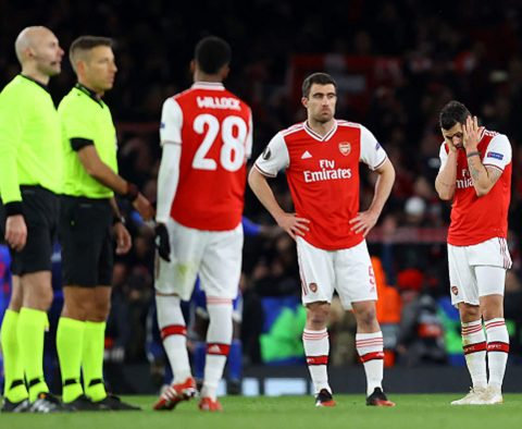 Arsenal Knocked Out Of Europa League