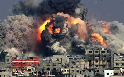 Israeli Attack On Gaza Continues On Fifth Day