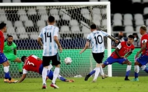 Messi Scores As Argentina Draws With Chile